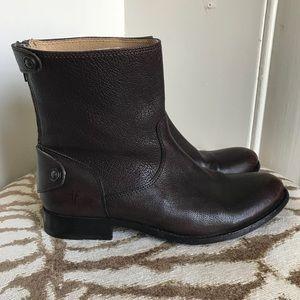 Frye Melissa Zip Short Boots